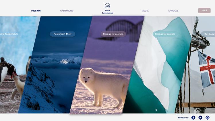 Arctic Conservancy Mission Menu