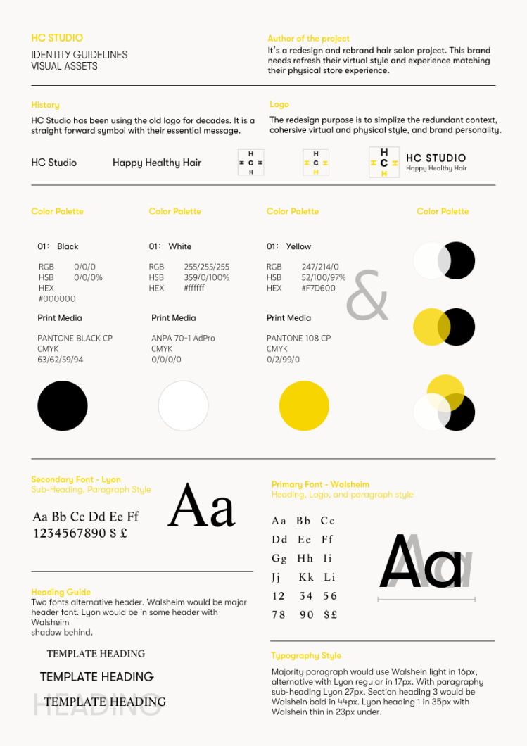 HC Studio Redesign Style Guide